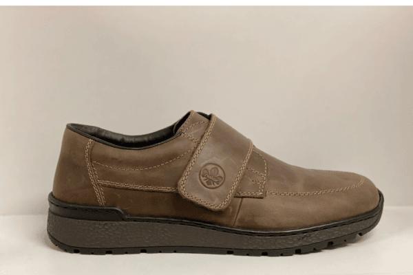 Rieker B9070-24 heren klittenbandschoen bruin