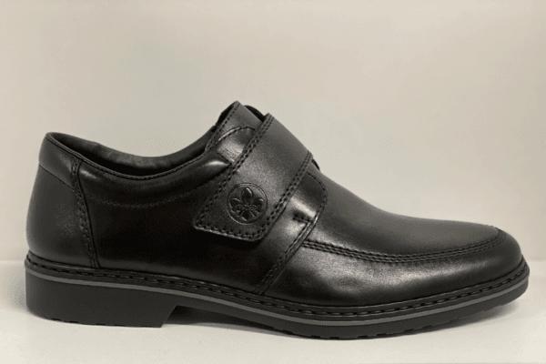 Rieker 16570-00 heren klittenbandschoen zwart