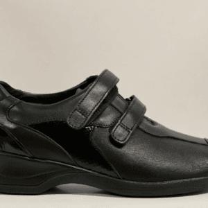 Xsensible 10027.3.002 dames klittenbandschoen zwart