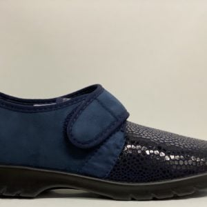 Varomed 31311-60 dames verbandpantoffel blauw