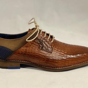 Berkelmans Heren geklede schoen Cognac
