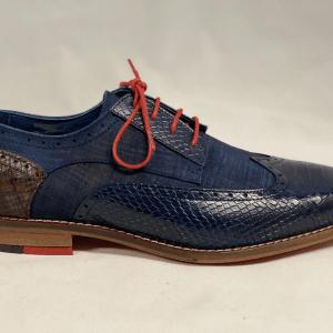 Berkelmans Heren geklede schoen Blauw