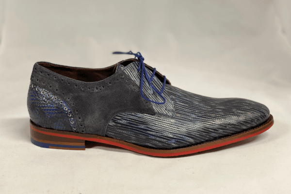 Van bommel 18107/04 Heren geklede schoen blauw